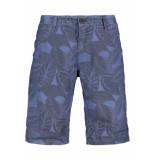 Garcia Jeans Santo short met allover print e91375 3263 airforce blue blauw
