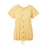Tom Tailor Gestreept carmen shirt 1011591xx70 17935 geel