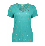 Key Largo Feather v neck wt00151 dark mint groen