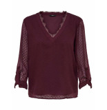 Only Macy top l/s rood