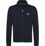 Tommy Hilfiger Tommy logo zip through mw0mw10755/403 blauw