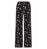 Catwalk Junkie Tr winter florals wide leg black zwart