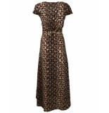 Ambika Maxi jurk jurk sparkle/leopard bruin