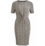 VILA Viflet s/s dress /rx 14056749 paloma/leo grijs