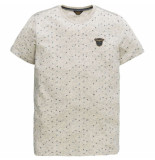 PME Legend Short sleeve r-neck nep yarn jerse bone white