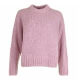 Joseph Trui tweed knit roze