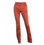 Marie Méro Broek high waist regular fit copper rood