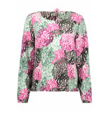 Sandwich Blouse met all over print 22001696 50015 wit