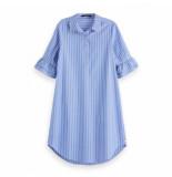 Maison Scotch shirt dress blauw