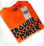 The Girl and Ibiza Tgai troublemaker t-shirt neon oranje