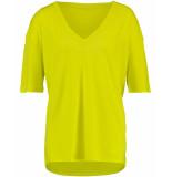 Studio Anneloes T-shirt 02712 caroline vneck geel