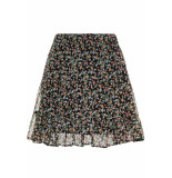Vero Moda Vmfay nw short skirt 10215920 black/viola(sma zwart
