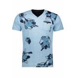 Gabbiano T shirt shortsleeve 15127 blue blauw