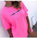 The Girl and Ibiza Tgai t-shirt eye roll roze