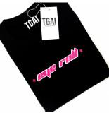 The Girl and Ibiza Tgai t-shirt eye roll zwart/roze