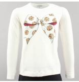 Monnalisa T-shirt basic c fiocco wit