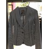 Penn & Ink W19mlisab 90-05 ny blazer block black - ecru