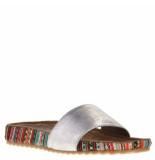 Lazamani Dames slippers zilver grijs