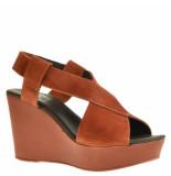 Taft Footwear Sandalen op sleehak rood