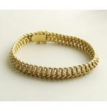 Christian Gouden gevlochten armband geel goud
