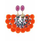 Godly Jewels Fiesta loca oorbellen - oranje