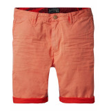 Scotch & Soda Broek coloured shorts washed red rood