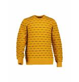 State of Art – trui – gestreepte met regular fit geel
