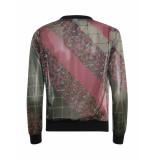 Poools – trui – sweater print mix fu paars