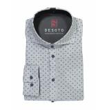 Desoto – overhemd – hai grey grijs