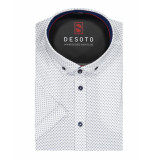 Desoto – overhemd – triangle print shirt white wit