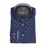 Desoto – overhemd – denim blue blauw