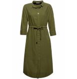 EDC Overhemd jurk in crinkle look 039cc1e007 c5 groen