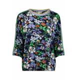 Tom Tailor Tshirt met bloemen 1009864xx71 15874 blauw