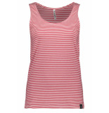 Zoso Adee striped top 193 red/white rood