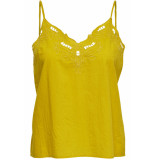 Only Onlsixty sl broderi anglais top fan 15179099 ceylon yellow geel