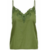 Only Onlsixty sl broderi anglais top fan 15179099 martini olive groen