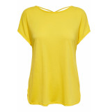 Only Onlmimi s/s top jrs 15179405 habanero gold geel