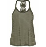 Only Onlmarie lace singlet jrs 15179384 crocodile/melange groen