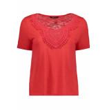 Only Onyisa s s crochet top jrs 15178093 bittersweet rood