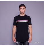 Radical Lucio rainbow t-shirt - zwart