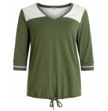 Anna van Toor Shirt 3/4 mouw 08b04-02685770/2 khaki
