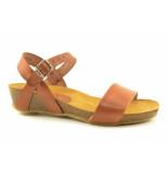 Red Rag flat sandal cognac