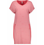 Zoso Succes striped logo dress 193 red/white rood