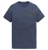 PME Legend Short sleeve r-neck play light wei salute blauw