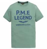 PME Legend Short sleeve r-neck play light wei oil blue blauw