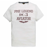 PME Legend Short sleeve r-neck play light wei bright white wit