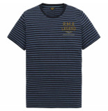 PME Legend Short sleeve r-neck yd stripes jer salute blauw
