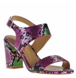 Maria Lya Dames sandalen combi rood