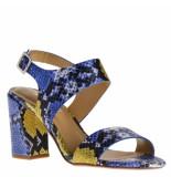Maria Lya Dames sandalen combi blauw