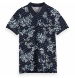 Scotch & Soda classic polo blauw